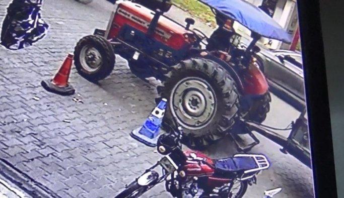 Manisa'da park halindeki traktör çalındı
