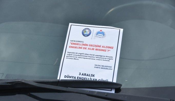 Salihli Belediyesi farkındalık çalışması: