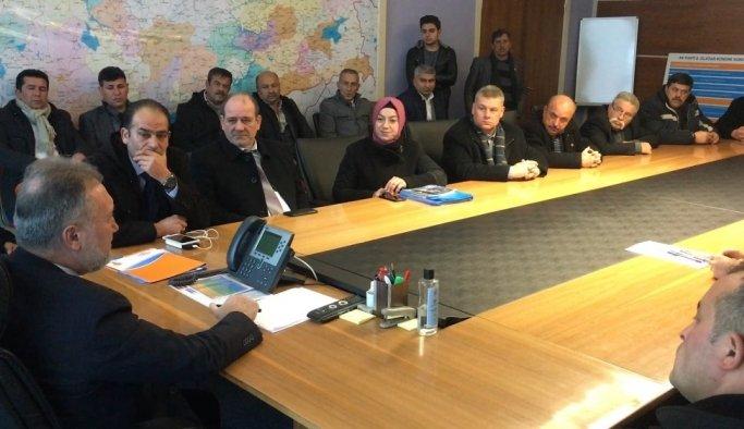 Yunusemreli muhtarlar Başkan Çerçi için Ankara'da