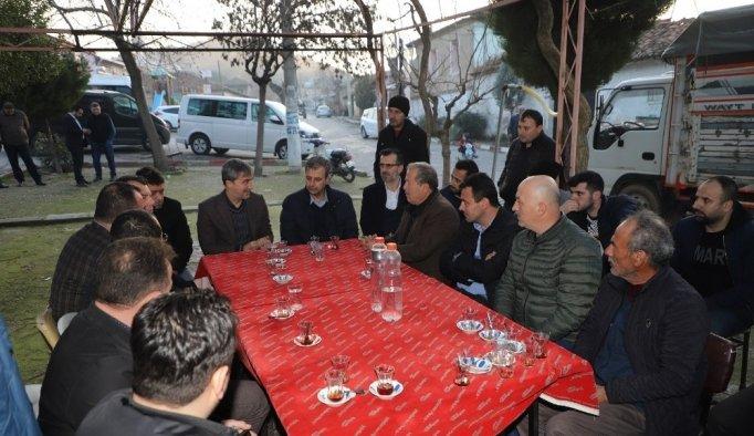 Başkan Şirin'e Derbent'te yoğun ilgi