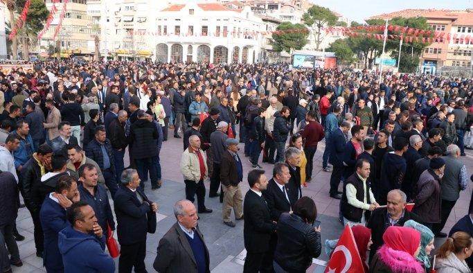 Cengiz Başkan, işçileri Erdoğan'ı alkışlatmaya getirdi