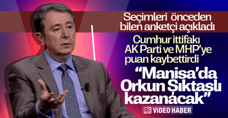 ANAR'a Göre Cengiz Ergün Manisa'da ittifaka puan kaybettirdi: Manisa'nın yeni başkanı Orkun Şıktaşlı