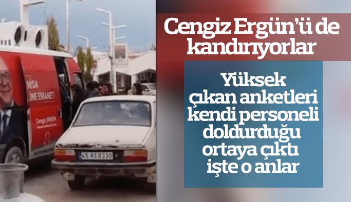 Cengiz Ergün'ü de kandırıyorlar Yüksek çıkan anketleri kendi personeli doldurduğu ortaya çıktı