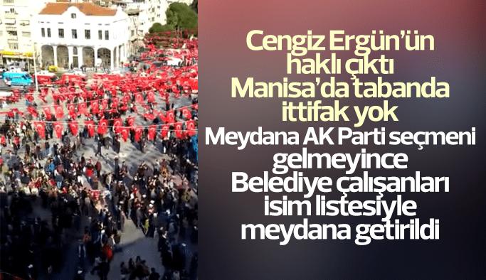 Manisa'da tabanda ittifak yok MHP mitingine AK Partililer ilgi göstermedi