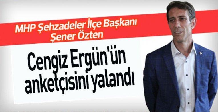 MHP'li Özten, Cengiz Ergün'ün anketcisini yalanladı