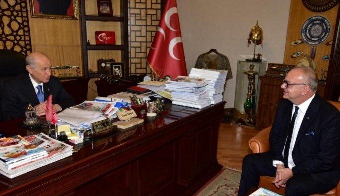 Başkan Ergün, MHP Genel Başkanı Bahçeli ile buluştu
