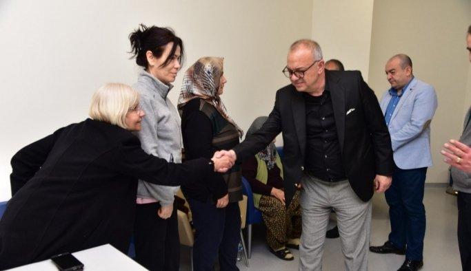 Başkan Ergün'den geçmiş olsun ziyareti