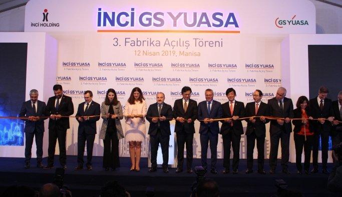 İnci GS Yuasa'nın üçüncü akü fabrikası Manisa'da açıldı
