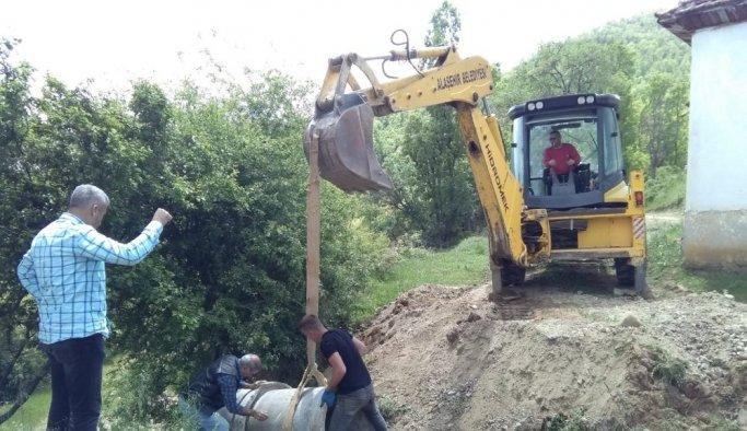 Alaşehir'de Bahçeli Mahalle yolları güvenli hale geldi