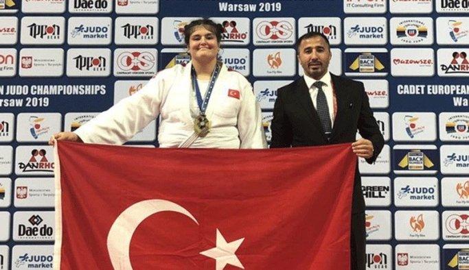 Manisalı judocu Avrupa üçüncüsü oldu