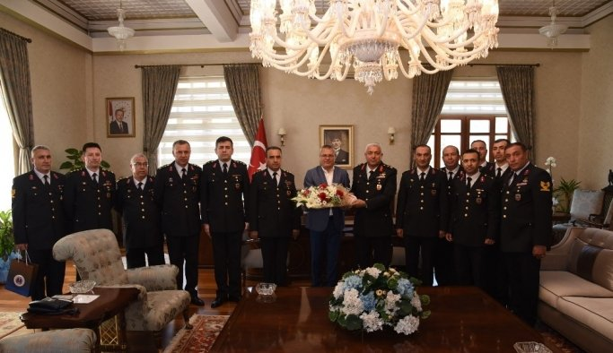 Vali Deniz jandarma teşkilatını ağırladı