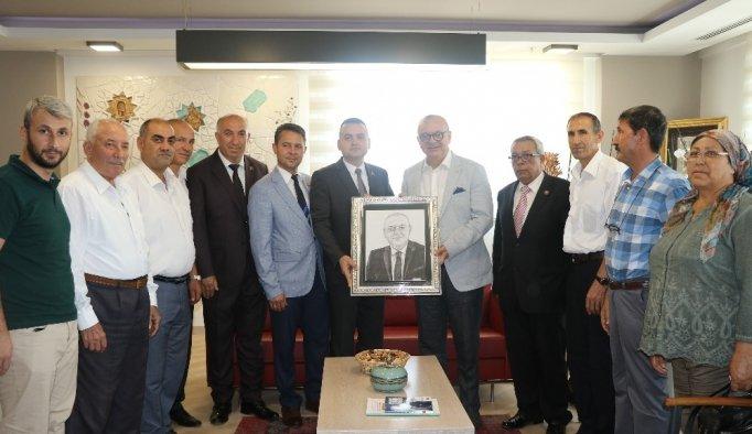 Başkan Ergün, Başkan Taydaş'ı ağırladı
