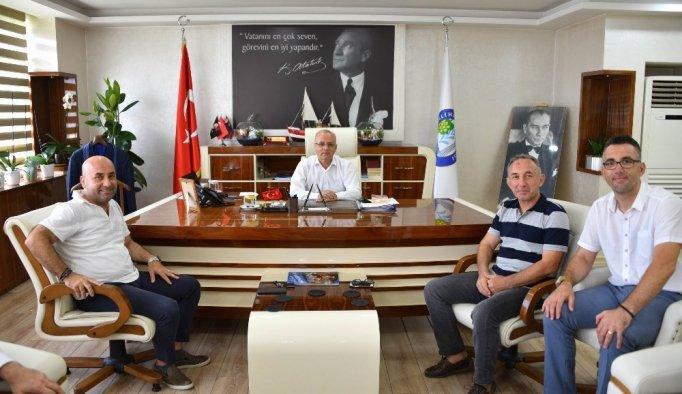 Başkan Kayda, Beşiktaşlı Halim Okta'yı ağırladı