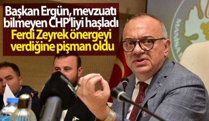 Başkan Ergün, mevzuatı bilmeyen CHP'liyi haşladı
