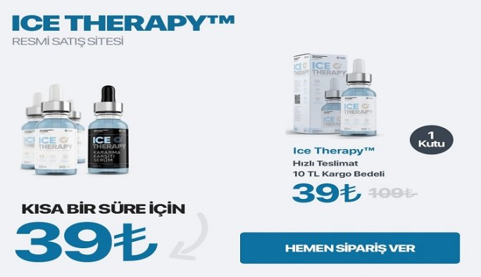 Ice Therapy Resmi Satış Sitesi!