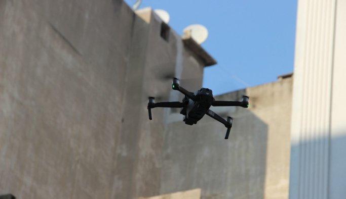 Manisapolisinden sesli droneli maske denetimi