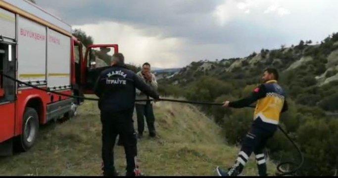112 Acil Sağlık ekipleri ormanı yanmaktan kurtardı