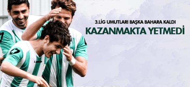 3. LİG UMUTLARI BAŞKA BAHARA!..