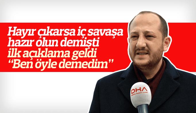 """İç savaş çağrısı yapan Ozan Erdem """"Ben öyle demedim"""" dedi"""
