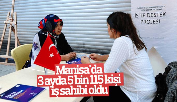 Manisa'da 3 ayda 5 bin 115 kişi iş sahibi oldu