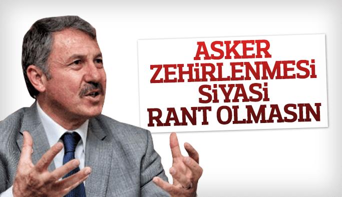 """AK Partili Selçuk Özdağ """"Asker zehirlenmesi siyasi rant olmasın"""""""