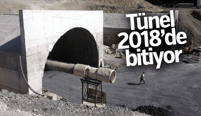 Sabuncubeli Tüneli 2018'de ulaşıma açılacak