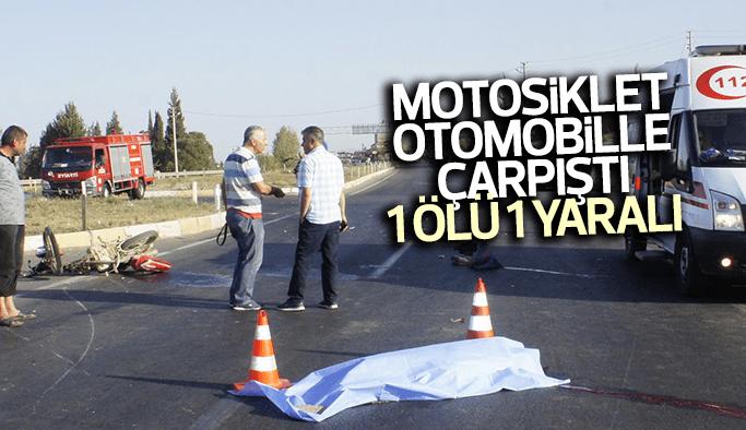 Kavşakta otomobil ile motosiklet çarpıştı: 1 ölü, 1 yaralı