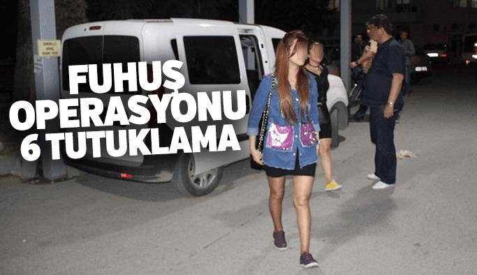 Manisa'da 6 adreste fuhuş operasyonu: 6 tutuklama