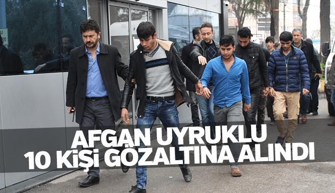 Manisa'da bıçaklı kavgaya karışan 10 Afgan uyruklu kişi gözaltına alındı