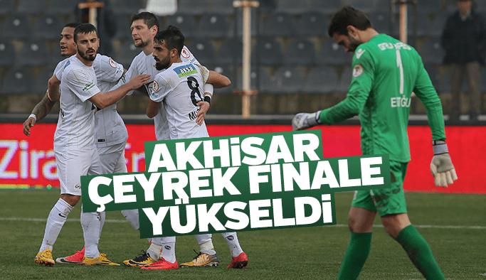 Akhisarspor çeyrek finale yükseldi