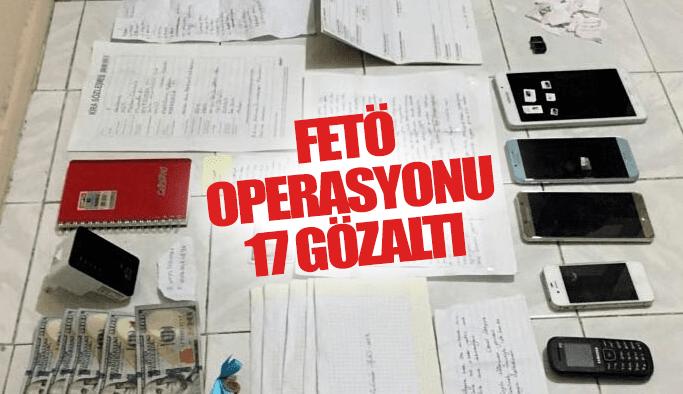 Akhisar'da FETÖ operasyonu: 17 gözaltı