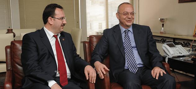 Başkan Ergün Vakıflar Bölge Müdürü İba'yı Ağırladı