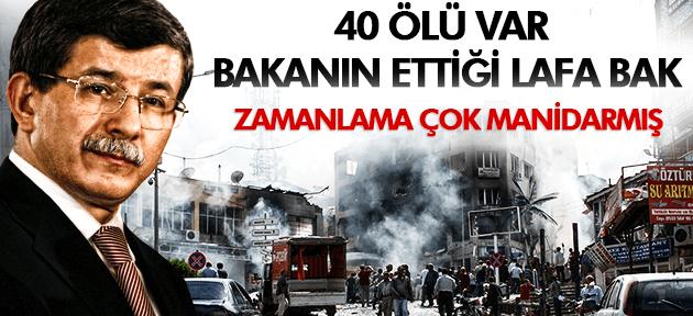 Davutoğlu'ndan Reyhanlı açıklaması