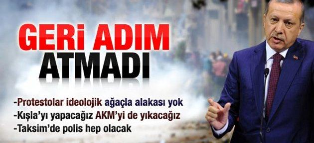 GERİ ADIM ATMADI
