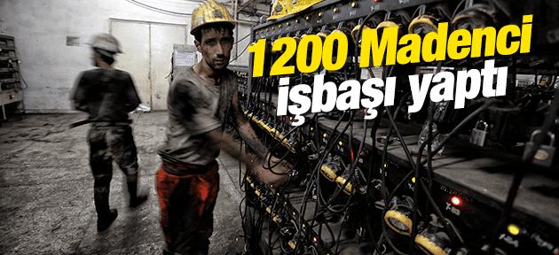 IŞIKLAR MADEN OCAĞINDA 1200 İŞÇİ İŞBAŞI YAPTI