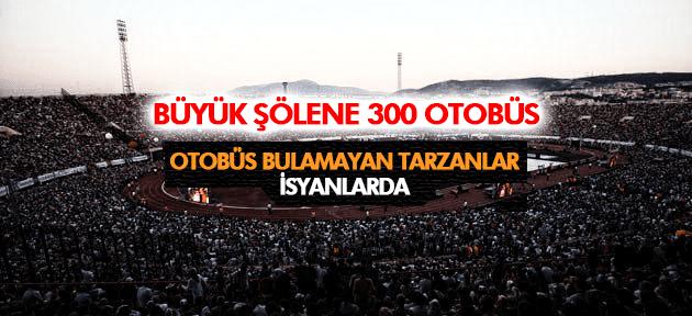İZMİRDEKİ ŞÖLENE MANİSA'DAN 300 OTOBÜS