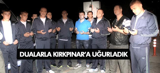 KULA BELEDİYESİ GÜREŞÇİLERİ, KIRKPINAR'A UĞURLANDI