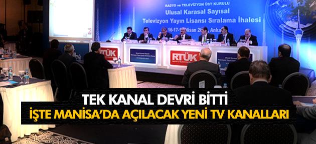 MANİSA'NIN TV YAYIN LİSANSI İHALESİ SONUÇLANDI