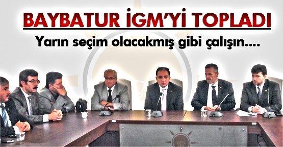 MURAT BAYBATUR İGM'Yİ TOPLADI