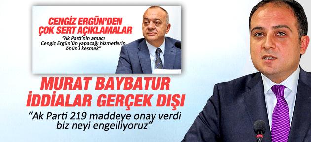 MURAT BAYBATUR'DAN CENGİZ ERGÜN'E ÇOK SERT CEVAP