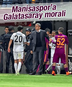 Manisaspor'a, Galatasaray morali