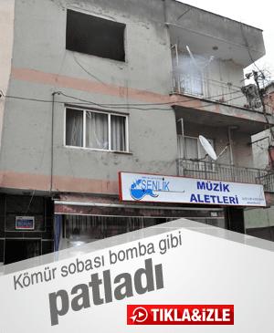 KÖMÜR SOBASI BOMBA GİBİ PATLADI