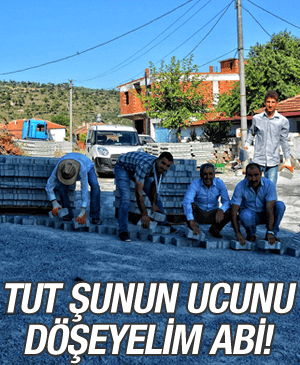 ÖRENCİK'E PARKE TAŞI DÖŞENİYOR