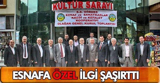 ÖZEL ESNAF KONGRELERİNE KATILDI