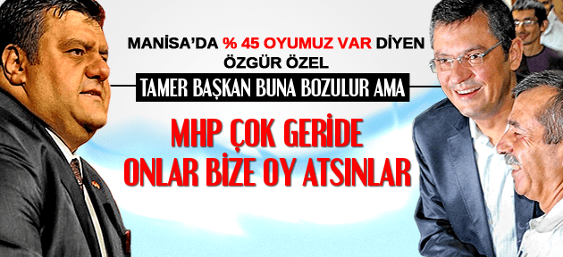 ÖZGÜR ÖZEL MHP MANİSA'DA CHP'NİN ÇOK GERİSİNDE