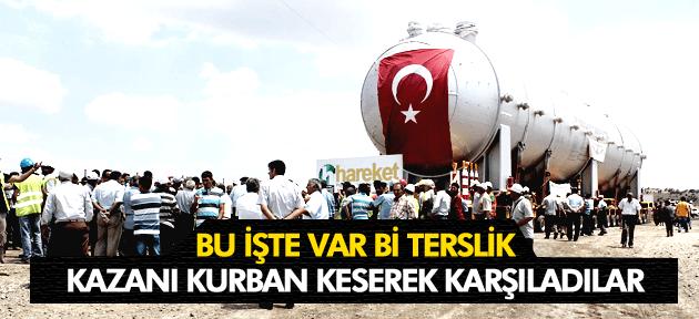 PROTESTO EDİLEN KAZANI ALKIŞLARLA KARŞILADILAR