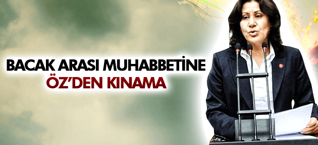 SAKİNE ÖZ'DEN ZEYİD ASLAN'A KINAMA