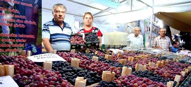 SARIGÖL ÜZÜM FESTİVALİ'NDE 11 ÇEŞİT ÜZÜM