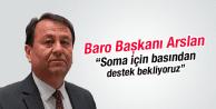 Baro Başkanı Basından Destek İstedi