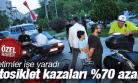 TRAFİK DENETİMLERİ İŞE YARADI MOTOSİKLET KAZALARINDA %70 AZALMA OLDU